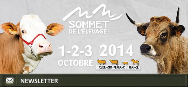 Prenez date ! SOMMET DE L'ELEVAGE 2014 (1-3 Octobre, Clermont-Ferrand, France)