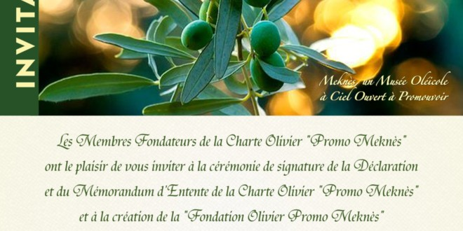 Invitation Charte Olivier Promo Meknès
