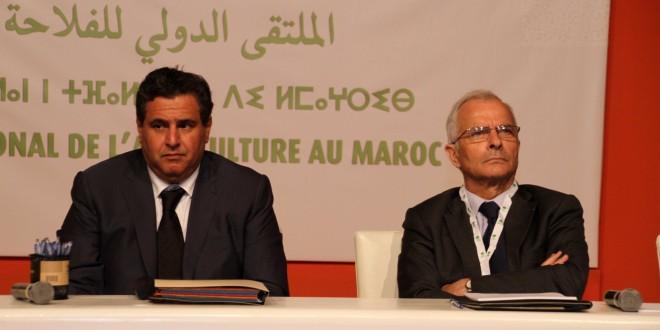 صور لإحدى الندوات بالمعرض الدولي للفلاحة بمكناس بحضور السيد الوزير عزيز أخنوش