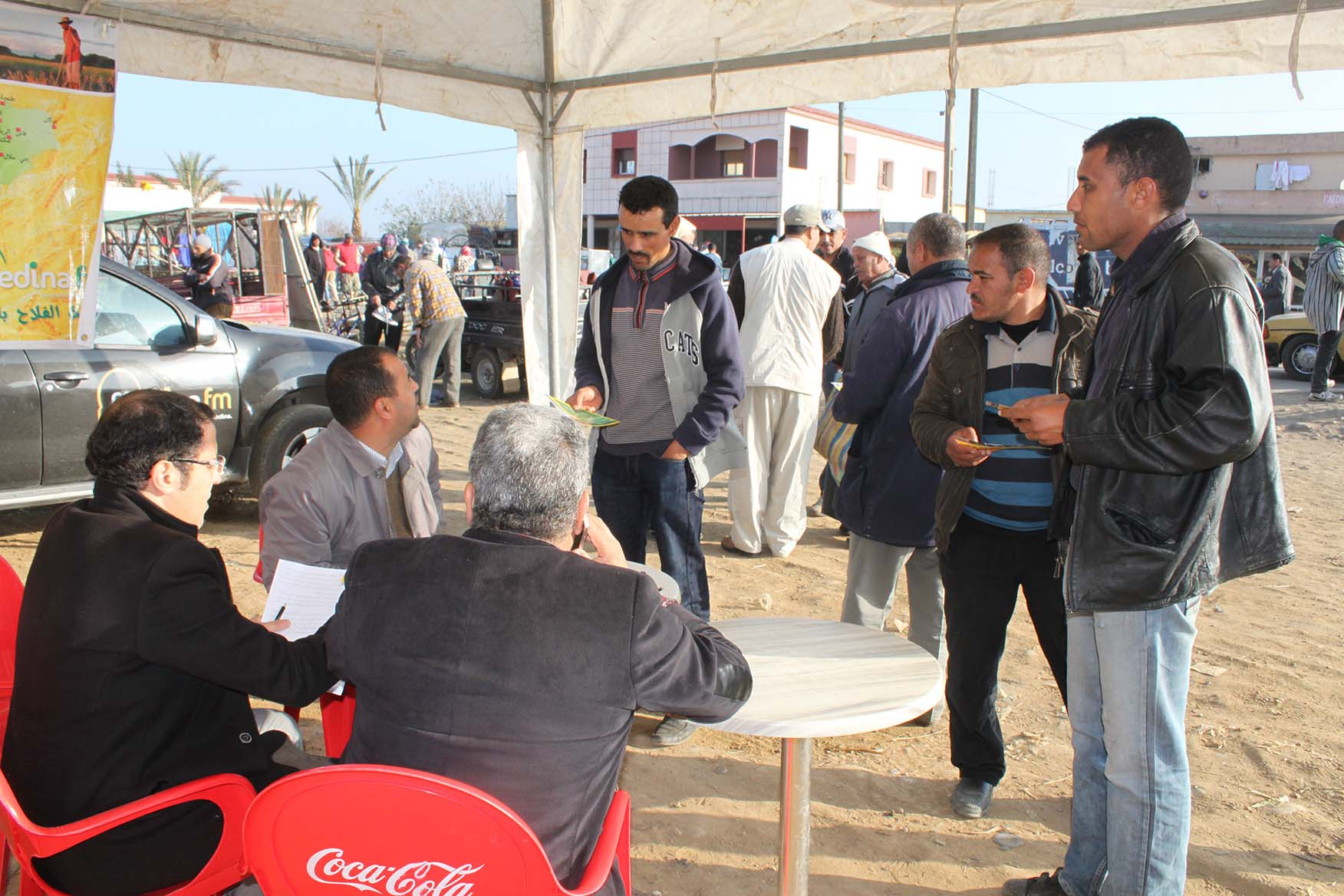 صور جولة إذاعة مدينة إف إم بالأسواق المغربية : سوق حد أولاد جلول