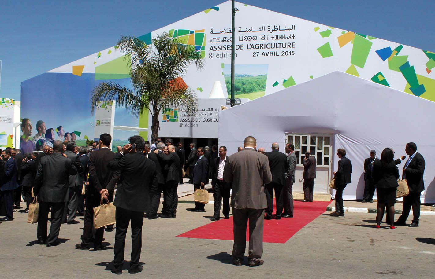 افتتاح أشغال الدورة الثامنة للمناظرة الوطنية للفلاحة بمكناس