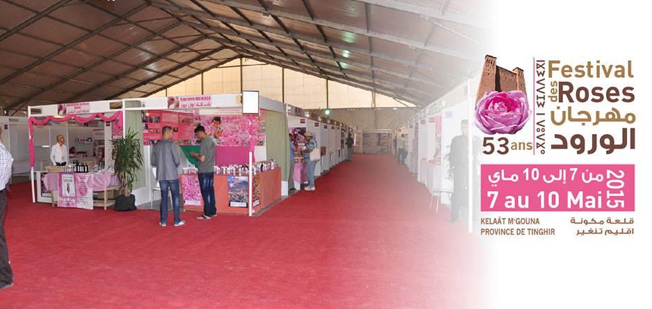 قلعة مكونة تحتفي بالورد العطري في مهرجانها السنوي الثالث و الخمسين من 7 إلى 10 ماي الجاري