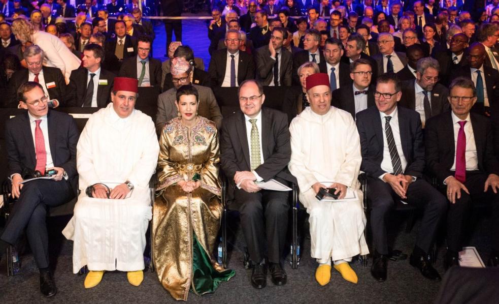 """صاحبة السمو الملكي الأميرة للا مريم تفتتح الرواق المغربي بالمعرض الدولي """"الأسبوع الأخضر"""" في دورته ال81 ببرلين."""