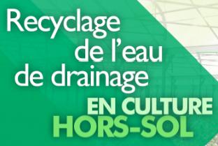 .Formation recyclage de l'eau de drainage en culture hors-sol
